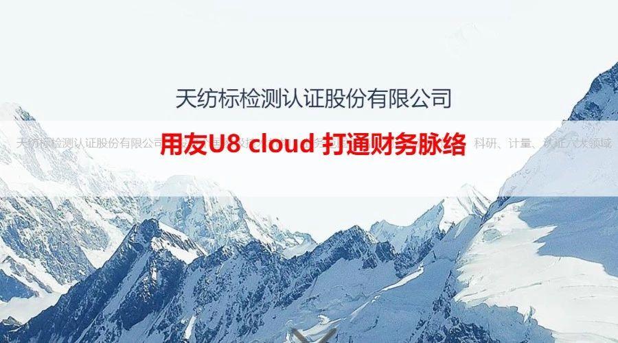 天纺标:用友U8 cloud 打通财务脉络